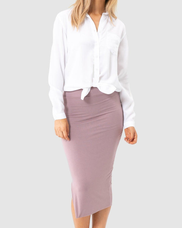 Nina Side Split Skirt