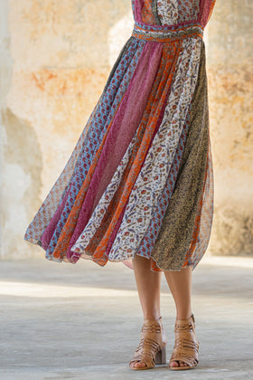 Fay Maxi Skirt in Wildflower