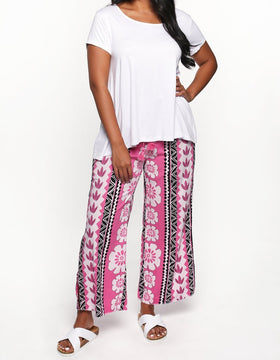 Foster Wide Leg Pant in Ibiza Pink
