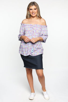 Frederika Top in Amberlight Purple