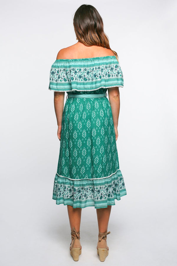 Hamptons Frill Dress in Amara