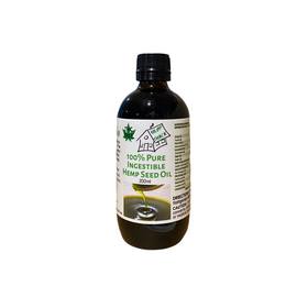 100% Pure Ingestible Hemp Seed Oil - 200ml