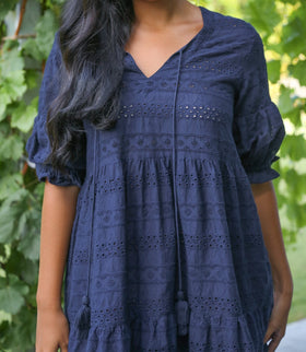 Ingrid Tiered Dress in Provence