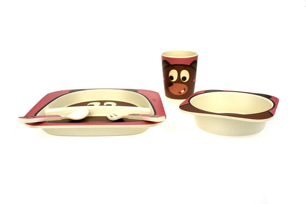 Bamboozoo Dinnerware Bear 5pcs