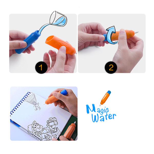 Magic Water Coloring Pad - Amusement Park