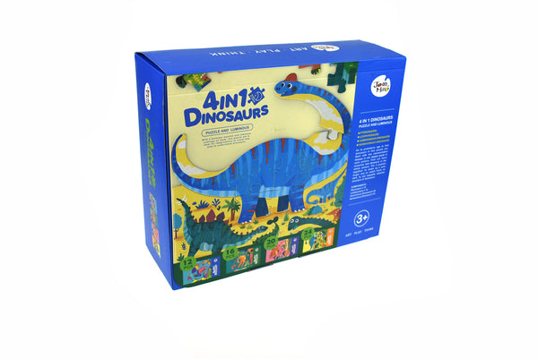 4 in 1 Dinosaurs Puzzle and Luminous
