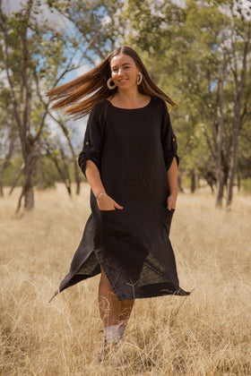 Jarla Dress in Black