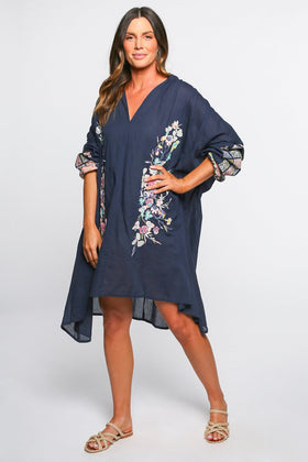Jovi Oversized Tunic in Navy