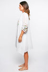 Jovi Oversized Tunic in White