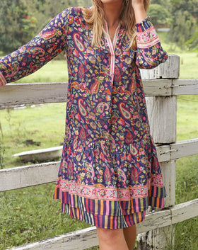 Katia Boho Dress in Boheme