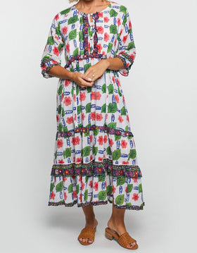 Kendra Maxi Dress in Picasso Lily
