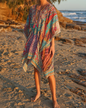 Latasha Short Kaftan in Tahiti