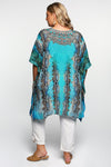 Latasha Short Kaftan in Zen Blue