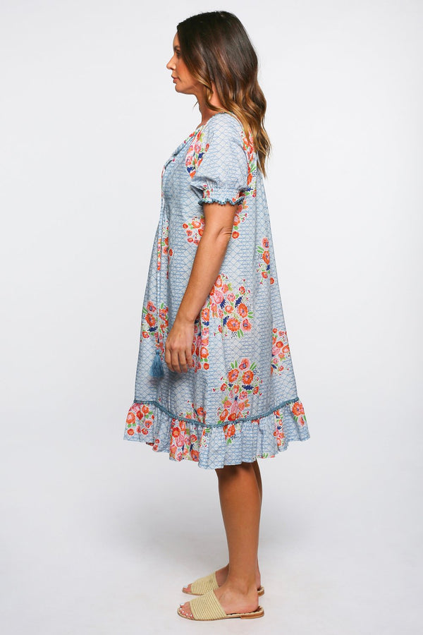 Lucy Frill Dress in High Tea