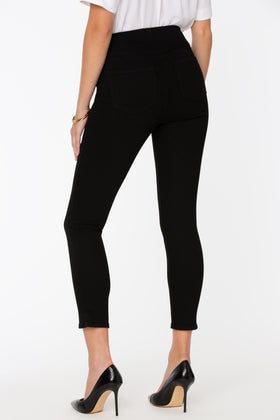 Alina Skinny Ankle Black Pull-On Jeans