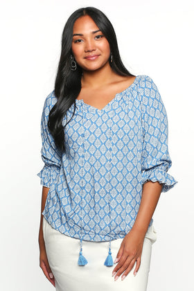 Maeve Shift Top in Gypsy Sea