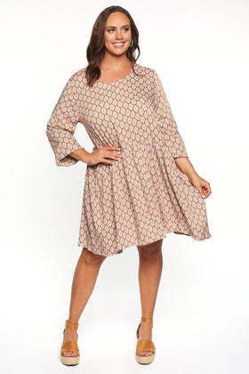 Millie Petite Dress in Gypsy Dusk