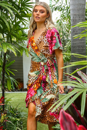 Misha Wrap Dress in Costa Rica