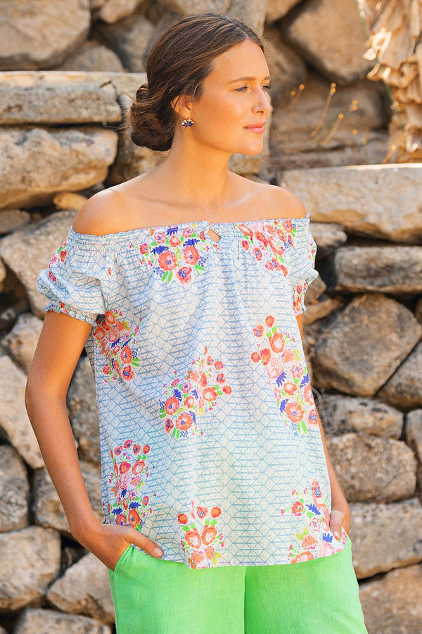 Montana Peasant Top in High Tea
