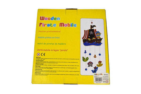 Wooden pirate mobile