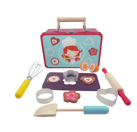 Baking playset in tin suitcase