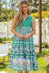 Nadine Tiered Maxi Dress in Amara