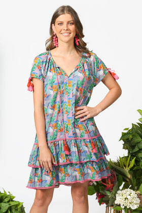 Nerelle Frill Dress in Bird of Paradise