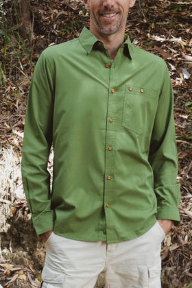 Men's Woven Long Sleeve Button Shirt