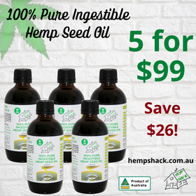 5 for $99 Hemp Seed Oil Value Pack