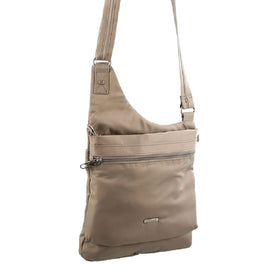 Pierre Cardin Anti-Theft Cross Body Bag - Taupe