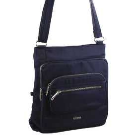 Pierre Cardin Anti-Theft Cross Body Bag - Navy