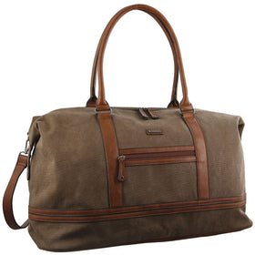 Pierre Cardin Canvas Overnight Bag - Brown