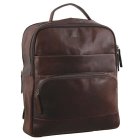 Pierre Cardin Rustic Leather Backpack - Chestnut