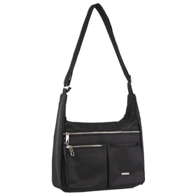 Pierre Cardin Anti-Theft Cross Body Bag - Black
