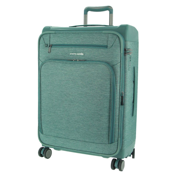 Pierre Cardin 66cm MEDIUM Half Hard/Half Soft Luggage - Sky