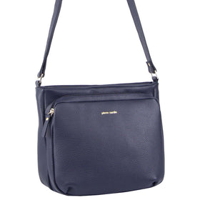 Pierre Cardin Genuine Leather Cross Body Bag - Navy