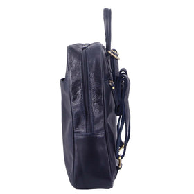 Pierre Cardin Rustic Leather Backpack - Midnight