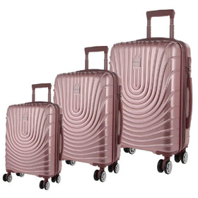 Pierre Cardin Hard Shell 3-Piece Luggage Set - Pink