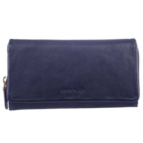 Pierre Cardin Rustic Leather Ladies Wallet - Midnight