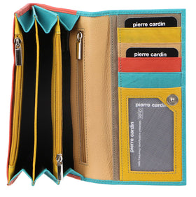 Pierre Cardin MultiColour Leather Ladies Wallet - Turquoise