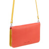Pierre Cardin Multi-Colour Leather Wallet Bag/ Clutch - Orange