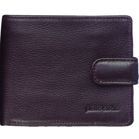 Pierre Cardin Italian Leather Tab Wallet - Chocolate