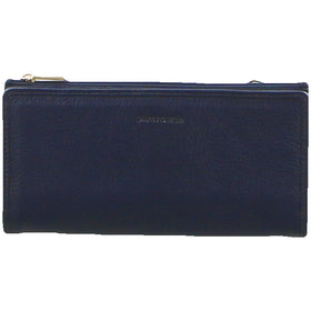Pierre Cardin Genuine Ladies Leather Bi-Fold Wallet - Navy