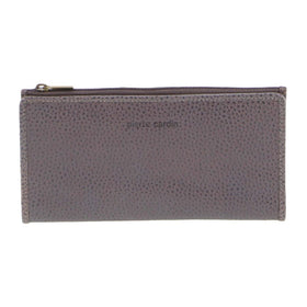 Pierre Cardin Genuine Ladies Leather Bi-Fold Wallet - Slate
