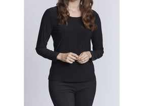 Long Sleeve Tubular Top - Black