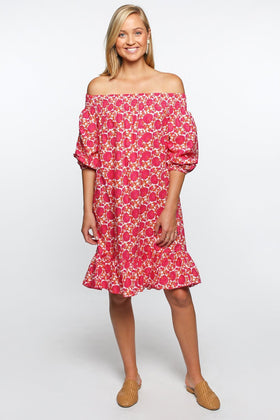 Poppy Dress in Pink Garden