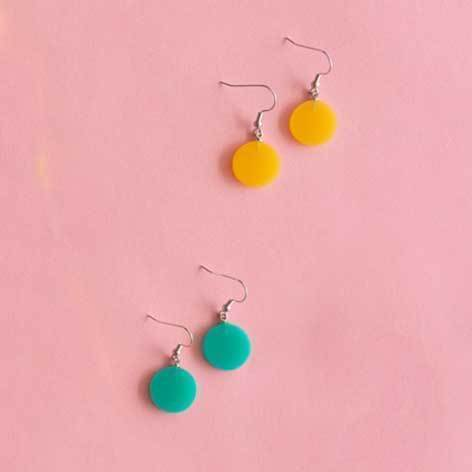 Rainbow Bright Drop Earrings (4 Colours Avail)