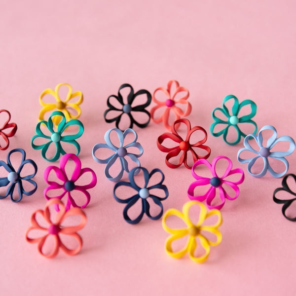 Bloom Ribbon Earrings (8 Colours Avail)