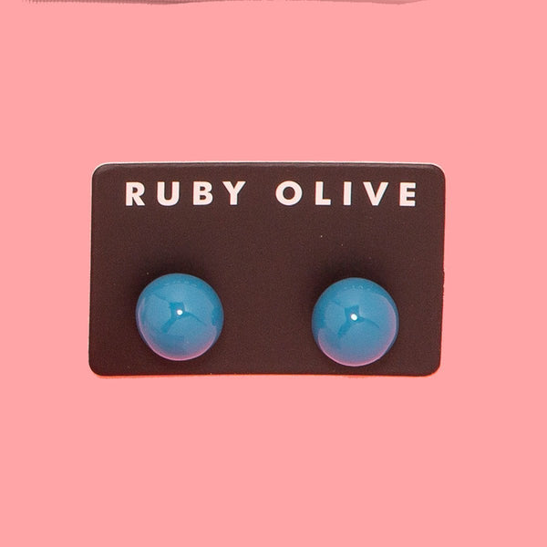 Everyday Round Stud Earrings (14 colours + 2 finishes)