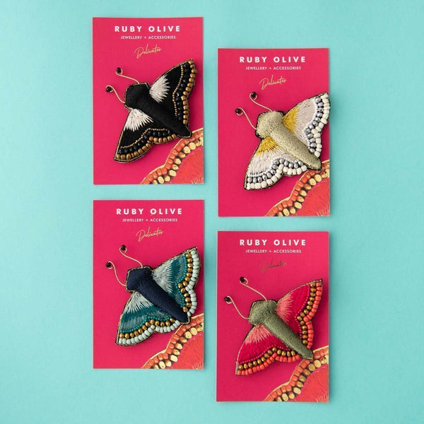 Delicates Betty Butterfly Brooch (4 Colours Avail)